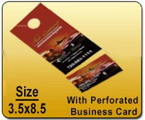 Wholesale Door Hangers - 3.5x8.5 with Perforated Business Card