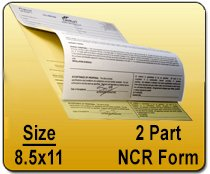 Wholesale 8.5x11, 2 Part NCR Form Printing Services