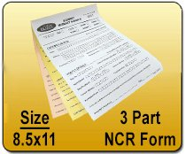 3 Part NCR Form - 8.5x11