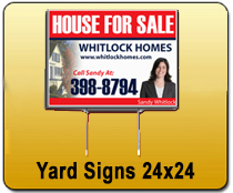 Yard Signs 24x24 - YARD SIGNS & Magnetic Cards | Cheapest EDDM Printing